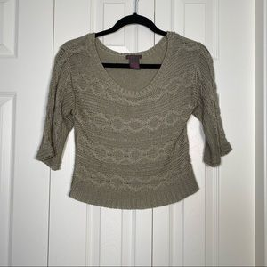 90s Grunge style cropped knit sweater